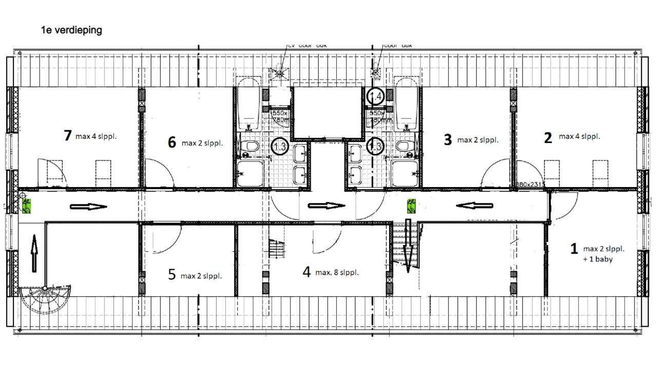 afbeelding: plattegrond Eind6_1e verdieping